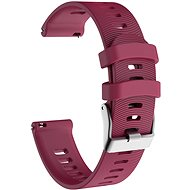 Eternico Garmin Quick Release 20 Silicone Band Steel Buckle purpurový - Řemínek