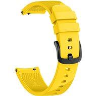 Řemínek Eternico Silicone Band žlutý pro Garmin Quick Release 20