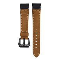 Eternico Garmin Quick Release 22 Genuine Leather hnědý