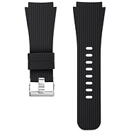 Eternico Samsung Quick Release 22 Silicone Vertical Grain Silver Buckle, Black - Watch band