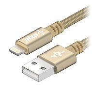 AlzaPower AluCore Lightning MFi 1m zlatý - Datový kabel
