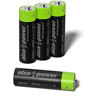 AlzaPower Rechargeable HR6 (AA) 2500 mAh 4 pcs in Eco-box