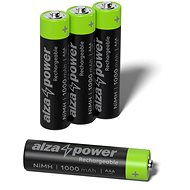 AlzaPower Rechargeable HR03 (AAA) 1000 mAh 4 pcs in Eco-box