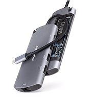 AXAGON HMC-6M2 COMBO 6in1 USB-C 3.2 Gen 1 Multiport Hub - Replikátor portů
