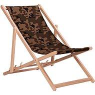 Aga Dřevěné skládací lehátko Camouflage Brown - Zahradní lehátko