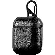 AlzaGuard Premium Leather Case pro AirPods černé