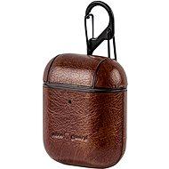 AlzaGuard Premium Leather Case pro AirPods hnědé