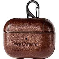 AlzaGuard Premium Leather Case pro AirPods Pro hnědé