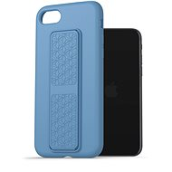 AlzaGuard Liquid Silicone Case with Stand pro iPhone 7 / 8 / SE 2020 modré - Kryt na mobil