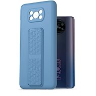 AlzaGuard Liquid Silicon Case with Stand Xiaomi POCO X3 / POCO X3 Pro modré