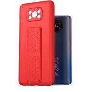 AlzaGuard Liquid Silicon Case with Stand Xiaomi POCO X3 / POCO X3 Pro červené