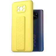 AlzaGuard Liquid Silicon Case with Stand Xiaomi POCO X3 / POCO X3 Pro žluté