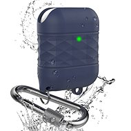 AhaStyle voděodolný kryt Airpods 1 & 2 navy blue - Pouzdro na sluchátka