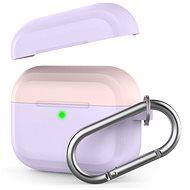 AhaStyle kryt AirPods Pro s karabinou failovo/růžový - Pouzdro na sluchátka