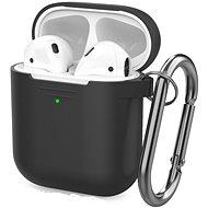 AhaStyle kryt AirPods 1 & 2 s LED indikací černý - Pouzdro na sluchátka