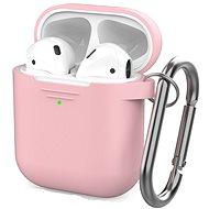 AhaStyle kryt AirPods 1 & 2 s LED indikací růžový - Pouzdro na sluchátka