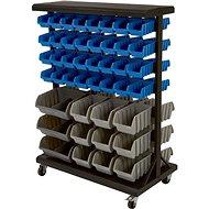 AHProfi Double-sided Metal Mobile Organizer for Screws, 88 Boxes - Organiser