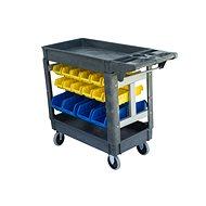 AHProfi Montážní vozík s úložným systémem, 32 boxů - Organizér