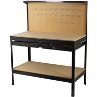 AHProfi work table with perforated top, two drawers and storage space - Workbench