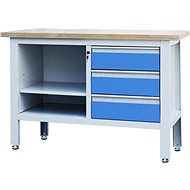 AHProfi work table with three drawers and shelf
