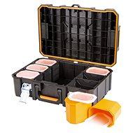 Tactix vodotěsný plastový kufr s organizérem - Kufr na nářadí
