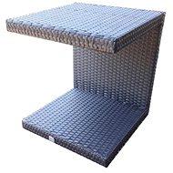 Dimenza odkládací stolek k lehátkům tmavě hnědý - Zahradní stůl
