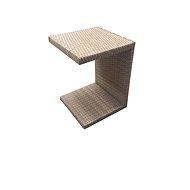 Dimenza odkládací stolek k lehátkům světle hnědý - Zahradní stůl