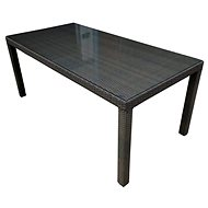 Dimenza BARCELONA Dining Table, Dark Brown - Garden Table