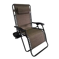 DIMENZA DELUXE Relaxing Adjustable Lounger - Brown