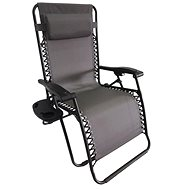 DIMENZA DELUXE Relaxing Adjustable Lounger - Grey
