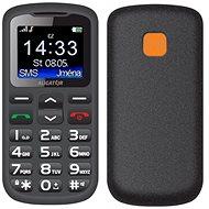 Aligator A431 Senior černá/šedá - Mobilní telefon