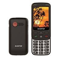 Aligator VS900 Senior černá/stříbrná + stolní nabíječka - Mobilní telefon