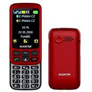 Aligator VS900 Senior červená/stříbrná + stolní nabíječka - Mobilní telefon