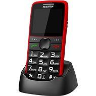 Aligator A675 Senior červená - Mobilní telefon