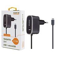 ALIGATOR MicroUSB s USB výst 5V/2,1A, černá