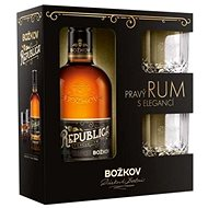 BOŽKOV Republica Exclusive 8y 500ml 38% + 2x Glass GB - Rum