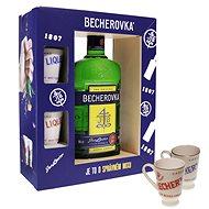 Becherovka 0,5l 38% + 2x sklo GB - Likér