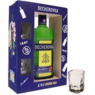 Becherovka 0.7l 38% + 2x GB glass - Liqueur