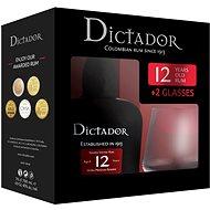 Dictador 12Y 0,7L 40% + 2X Sklo Gb - Rum