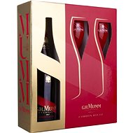 Mumm Cordon Rouge Brut 0.75l 12% + 2x Glass GB - Champagne