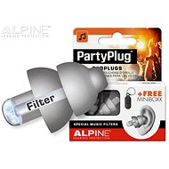 ALPINE PartyPlug Silver Grey - Špunty do uší