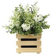 AMADEA Dřevěný obal na květináč, 17x17x15cm