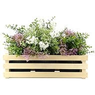 AMADEA Wooden cover for three flowerpots, 47x17x15cm - Planter Cover