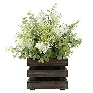 AMADEA Dřevěný obal na květináč - tmavý, 17x17x15cm