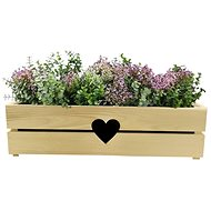 AMADEA Wooden case for a box with a heart, 62x21,5x17cm - Planter Cover