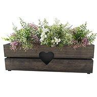 AMADEA Wooden Case for a Box with a Dark Heart, 52x21,5x17cm - Flower Box