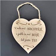 AMADEA Dřevěné srdce s nápisem V nebi mě nechtějí, v pekle se mě bojí, tak jsem tu, masivní dřevo,16 - Dekorace