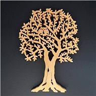 AMADEA Dřevěný strom s veverkou a sovami, masivní dřevo, výška 26 cm - Dekorace