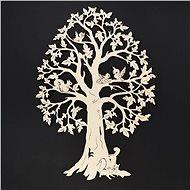 AMADEA Dřevěný strom se zvířaty, přírodní závěsná dekorace, výška 28 cm - Dekorace