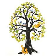 AMADEA Dřevěný strom se zvířaty, barevná dekorace k zavěšení, výška 28 cm - Dekorace